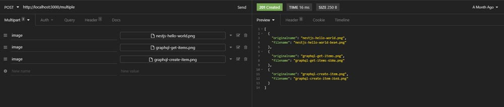 Nestjs file uploading using Multer